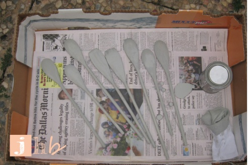 Stained Wooden Spoons for Plant Markers