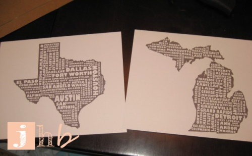 Map My State Prints