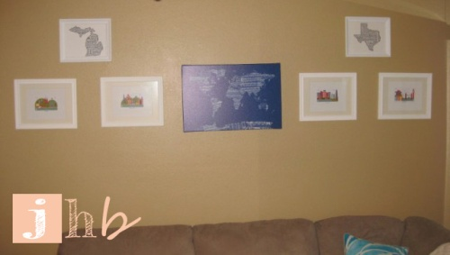 Worldly Wall Art Frame Gallery