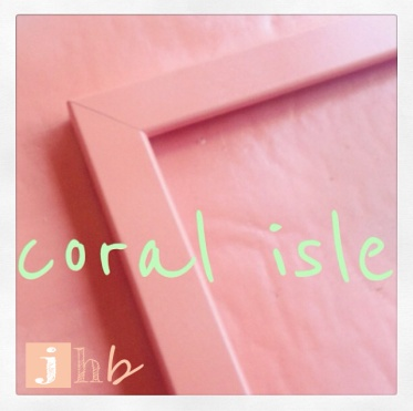 Krylon Coral Isle on a Frame