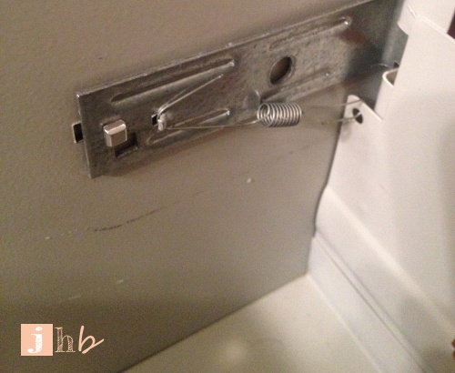 HON File Cabinet Latch Mechanism