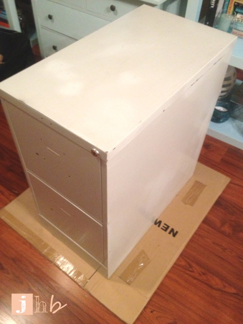 File Cabinet Before Makeover
