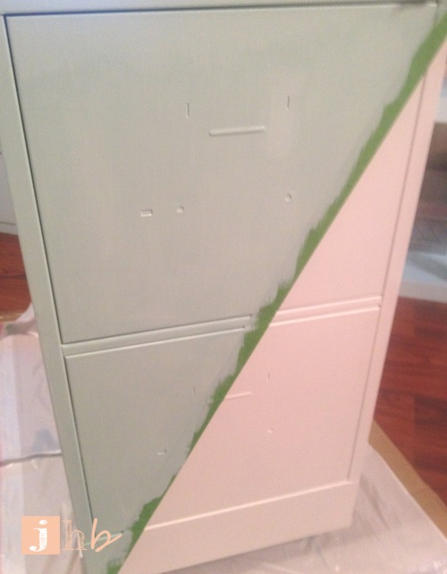 Progress on Painting a File Cabinet