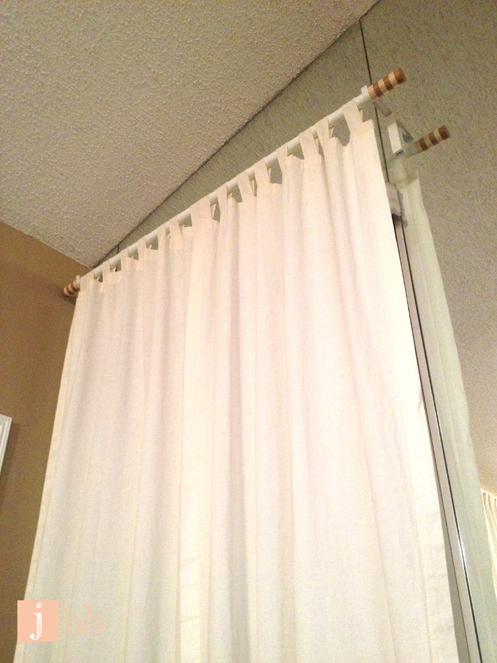 Hang Curtain Rods Without Drilling Holes Hang Next to Wall Curtain