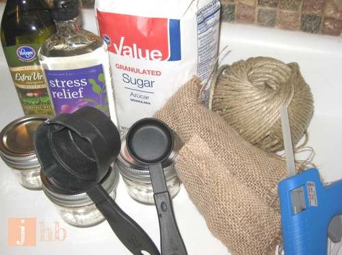 Sugar Scrub Recipe Supplies