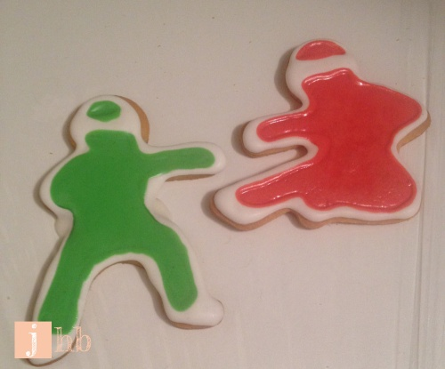 Ninja Sugar Cookies with Royal Icing