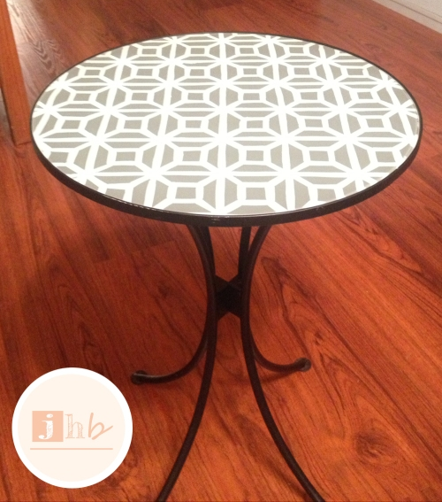 After - Happy Little Glass Top Accent Table