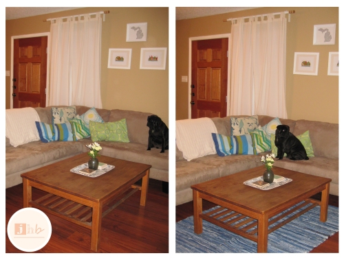 Before and After Rug