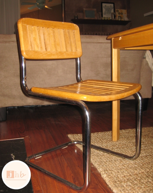 Mid Century Wooden Cantilever Chair Found on Craigslist