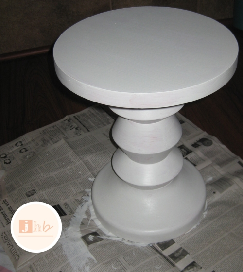 Primed Wooden Accent Table