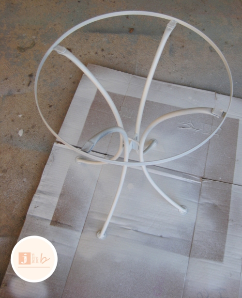 Primed Metal Accent Table Frame