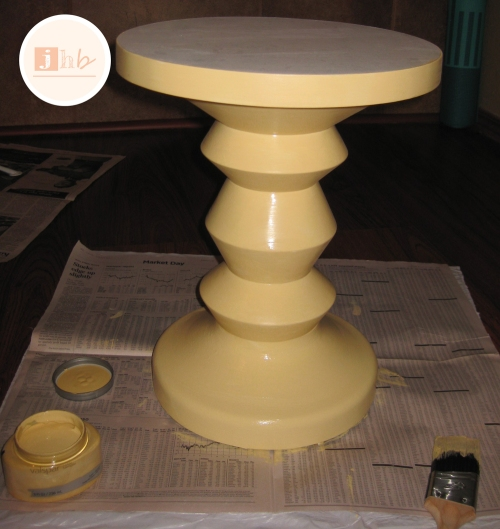 DIY Painted Accent Table