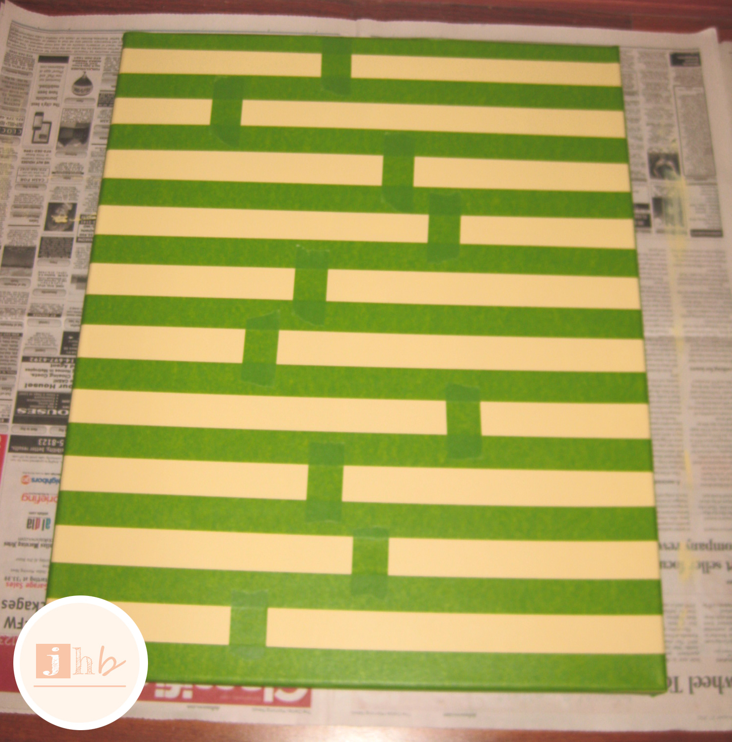 DIY Striped Wall Art | jamie\'s home blog