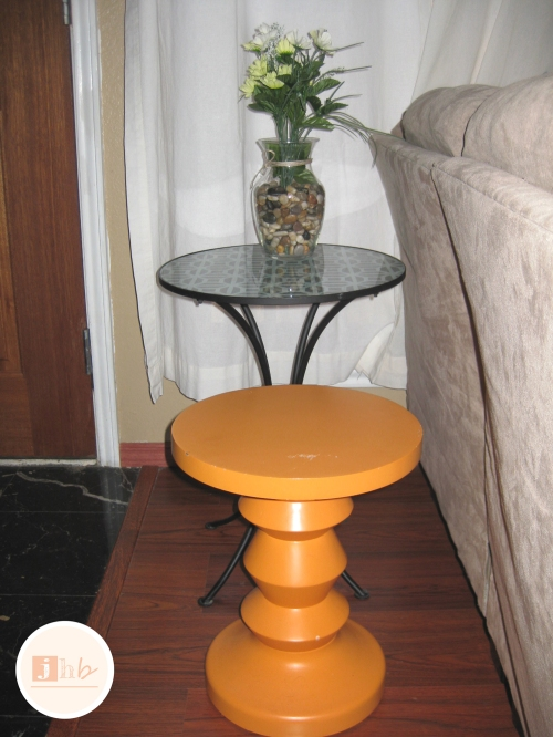 Before - DIY Matching Accent Tables