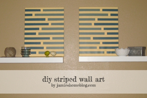 diy striped wall art