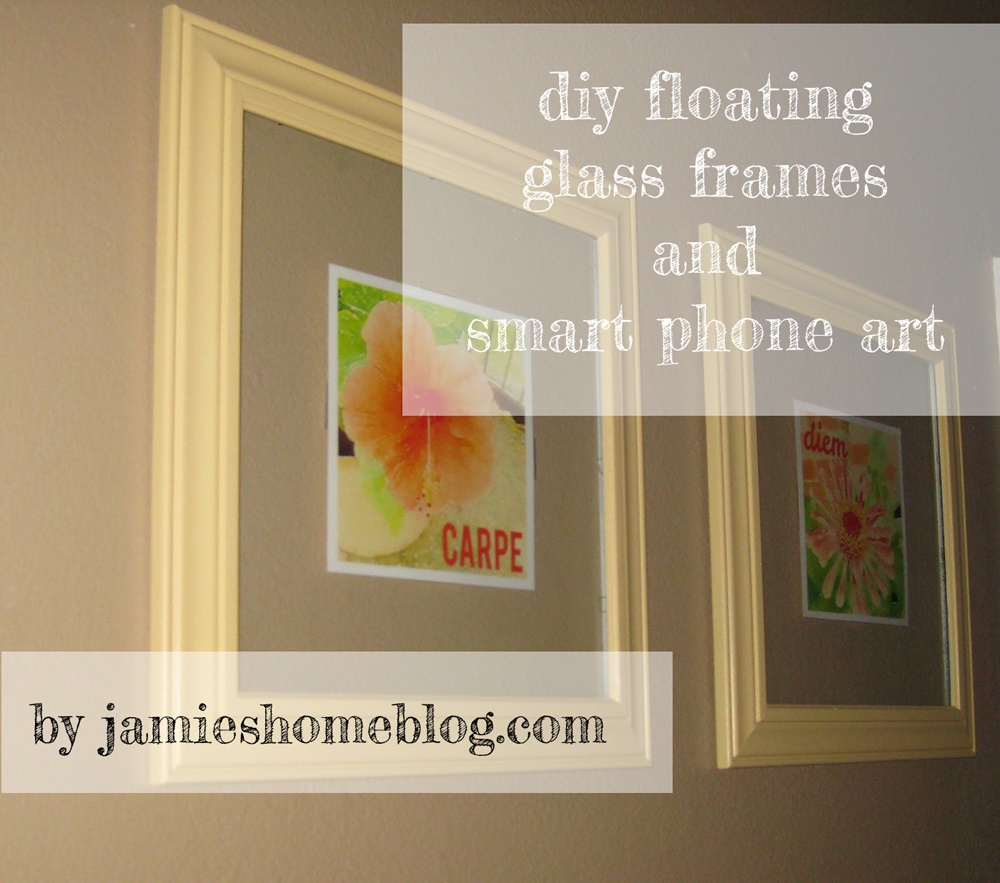 diy floating glass frames and smart phone art - Diy Floating Frame