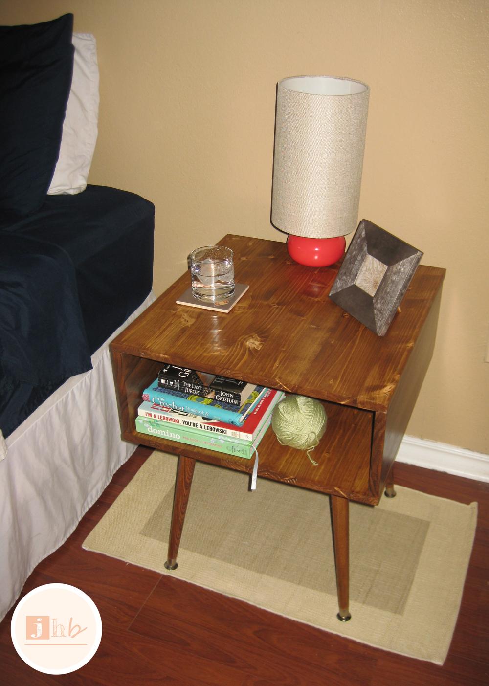 Diy Mid Century Style Nightstand Jamie S Home Blog