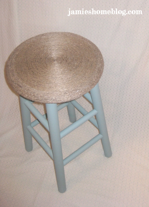 chalk paint stool makeover