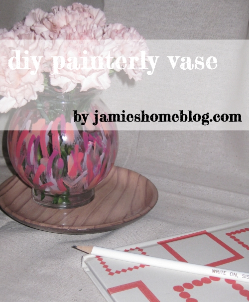 easy diy painterly vase