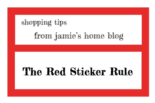 shopping tip - jamie's home blog red sticker rule - target bargain shopping