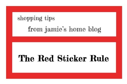 shopping tip - jamie's home blog red sticker rule - target bargain shopping