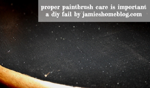 this is why you clean your brushes properly #diyfail