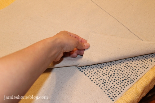 easy diy envelope pillow cover / west elm inspired pillow