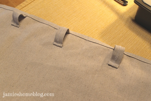 how to sew hidden tab top curtains