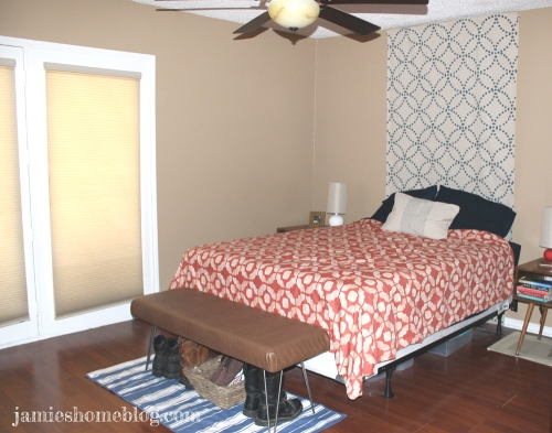 diy canvas drop cloth textile headboard
