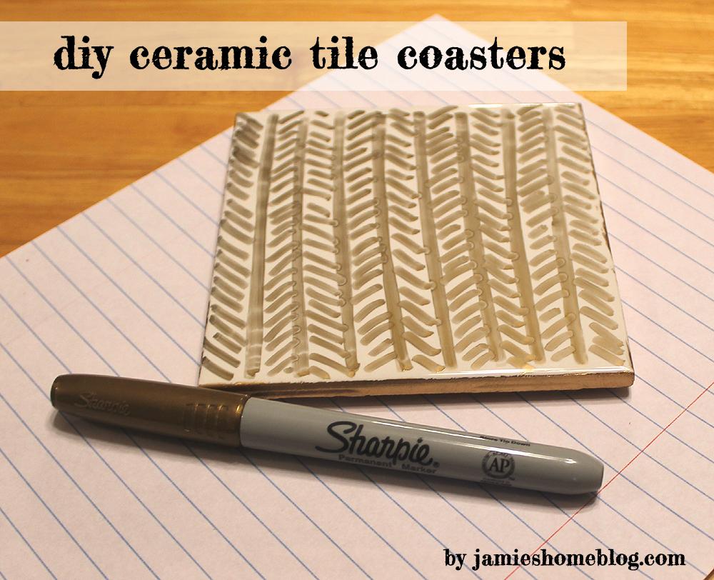 Diy ceramic tile coasters jamies home blog diy ceramic tile coasters dailygadgetfo Choice Image