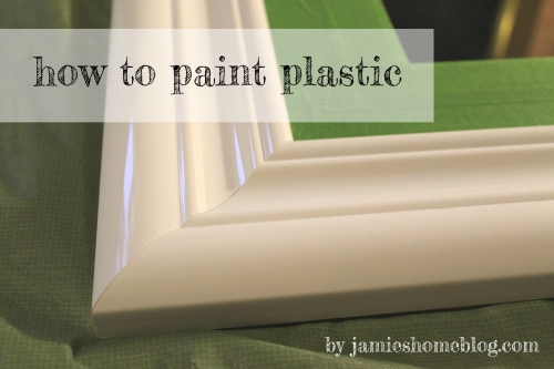 how to paint plastic