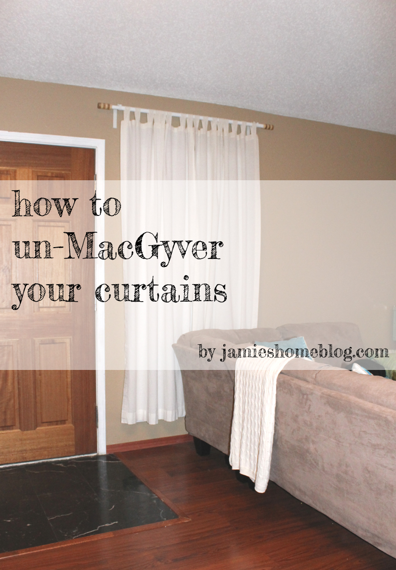 take curtains down | jamie's home blog