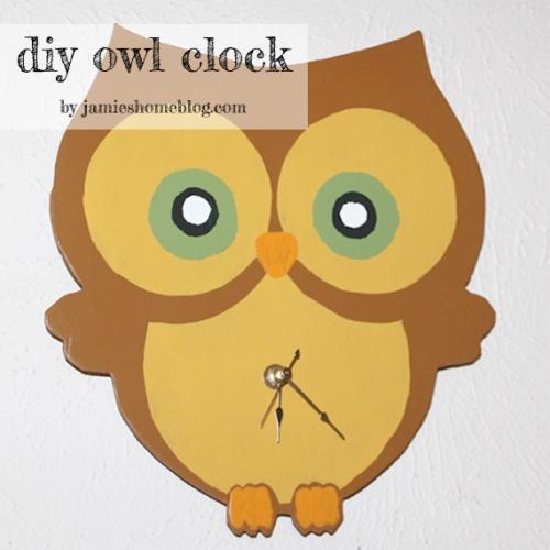 diy owl clock