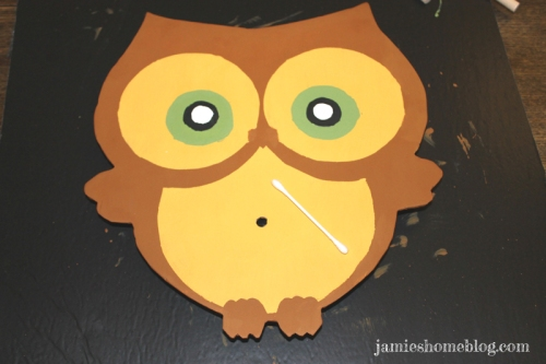 diy owl clock