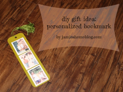 diy gift: personalized bookmark