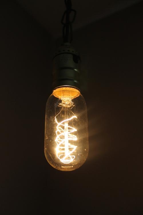spiral filament edison bulb