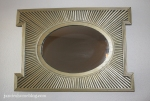 spray painted wood sunburst mirror