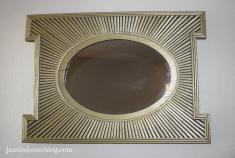 spray painted wood sunburst mirror