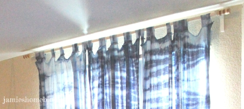 diy shibori tie dye curtains