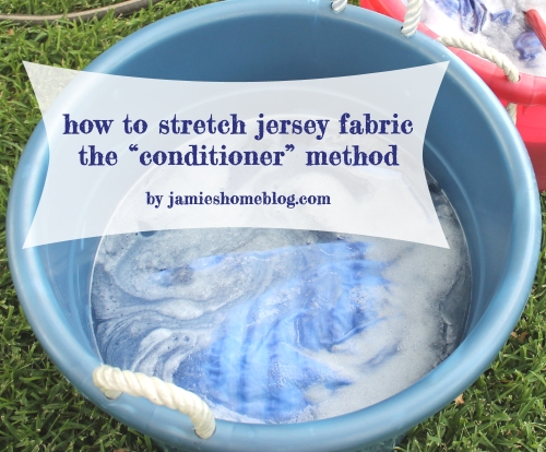 how to stretch and unshrink cotton jersey fabric