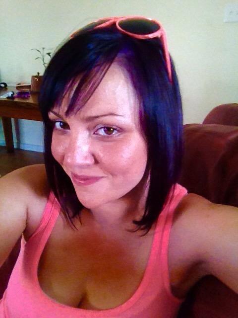 diy purple hair