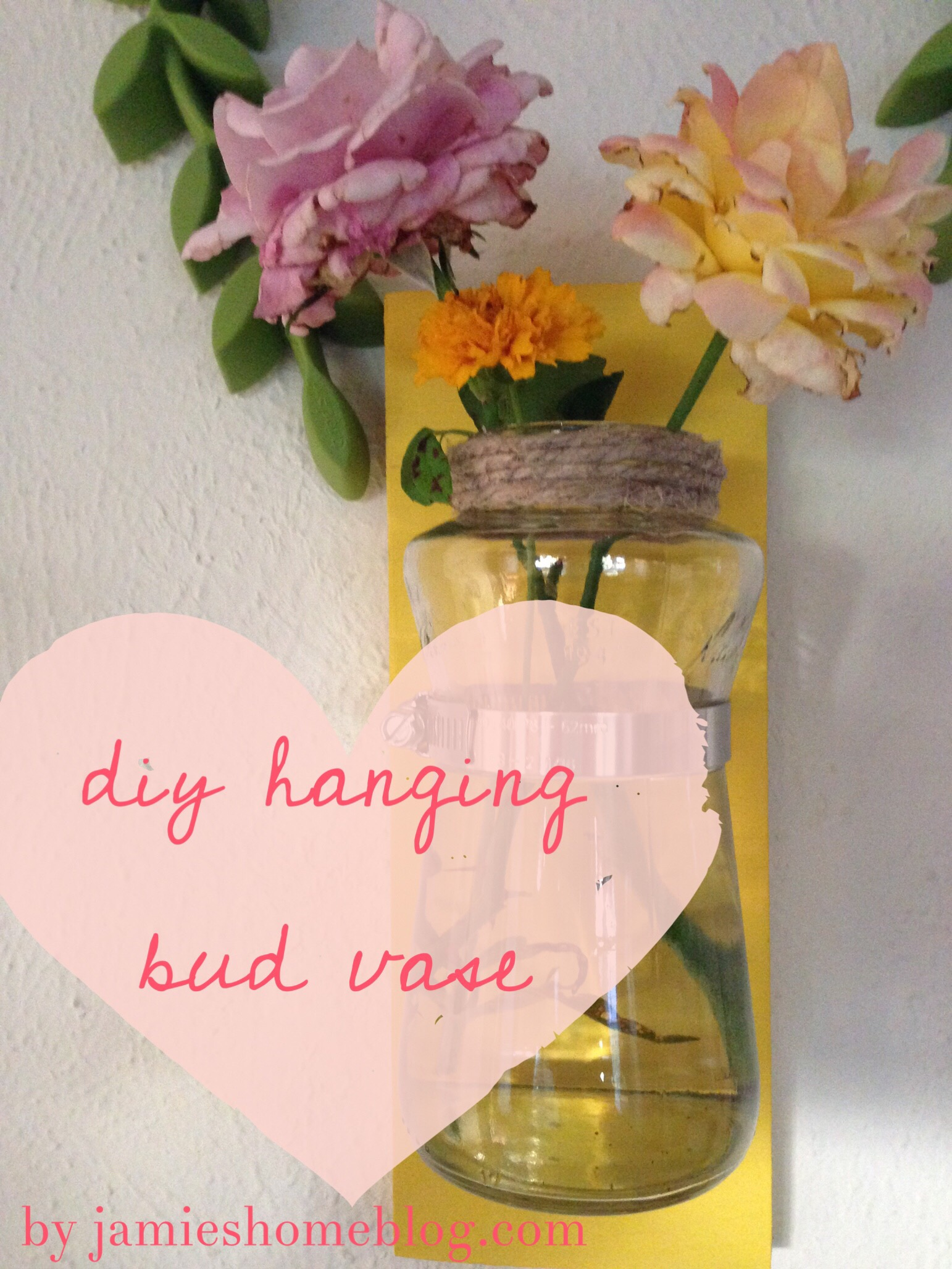 Diy hanging bud vase jamies home blog buzzfeeds nifty facebook page posted a video of three mason jars being mounted to a board to display succulents organize your bathroom etc reviewsmspy